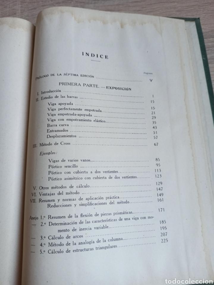 Libros de segunda mano de Ciencias: Cálculo de Estructuras Reticulares Carlos Fernández Casado Editorial Dossat Septima Edición 1958 - Foto 12 - 244713620