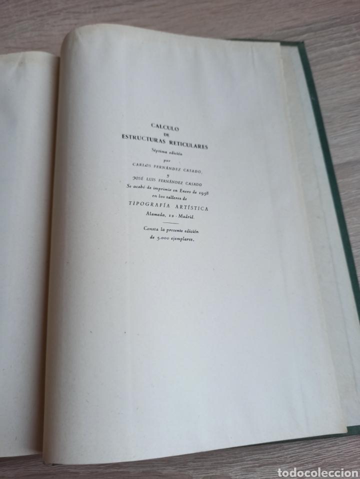 Libros de segunda mano de Ciencias: Cálculo de Estructuras Reticulares Carlos Fernández Casado Editorial Dossat Septima Edición 1958 - Foto 14 - 244713620