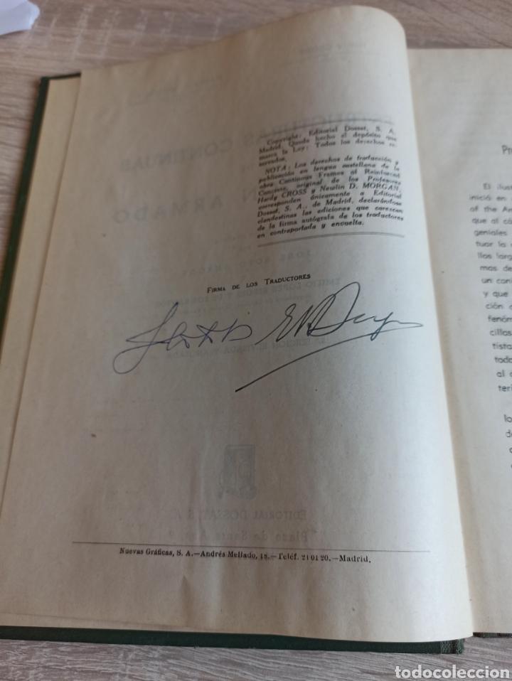 Libros de segunda mano de Ciencias: Cross-Morgan Estructuras continuas de Hormigón Armado Editorial Dossat Firmado por los traductores - Foto 5 - 244714565