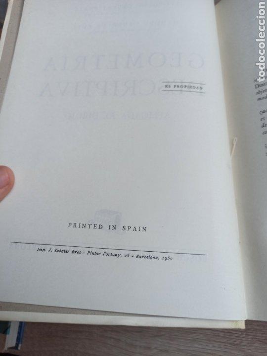 Libros de segunda mano de Ciencias: Geometría Descriptiva Aplicada al Dibujo por L. Crusat y M. Daurella - Bosch Casa Editorial 1950 - Foto 3 - 244718620