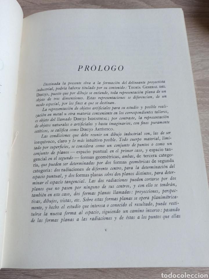 Libros de segunda mano de Ciencias: Geometría Descriptiva Aplicada al Dibujo por L. Crusat y M. Daurella - Bosch Casa Editorial 1950 - Foto 4 - 244718620