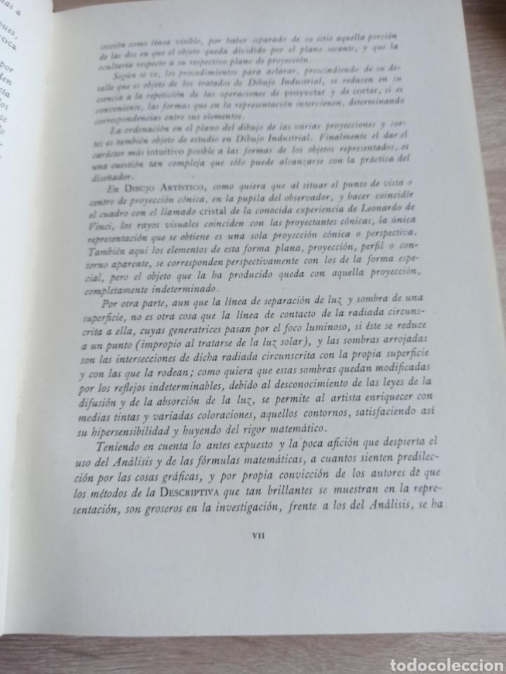 Libros de segunda mano de Ciencias: Geometría Descriptiva Aplicada al Dibujo por L. Crusat y M. Daurella - Bosch Casa Editorial 1950 - Foto 6 - 244718620