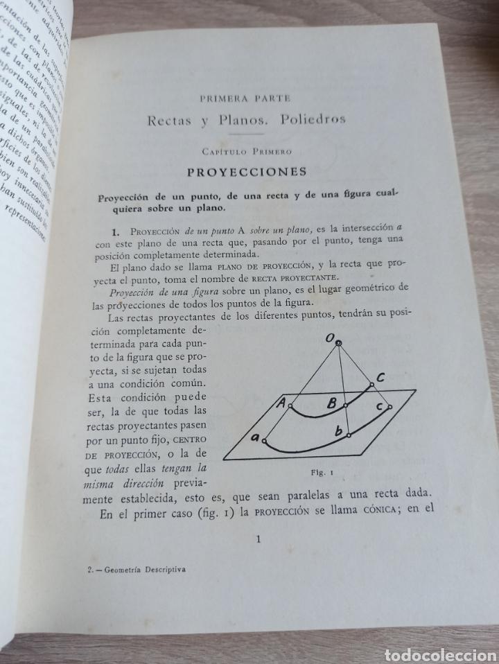 Libros de segunda mano de Ciencias: Geometría Descriptiva Aplicada al Dibujo por L. Crusat y M. Daurella - Bosch Casa Editorial 1950 - Foto 8 - 244718620