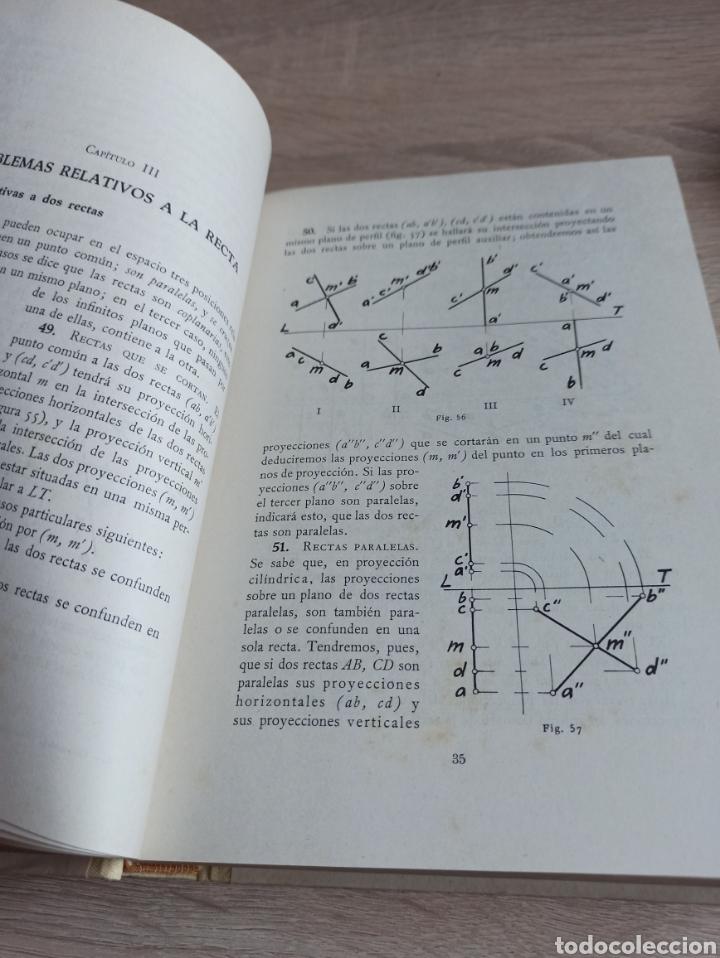 Libros de segunda mano de Ciencias: Geometría Descriptiva Aplicada al Dibujo por L. Crusat y M. Daurella - Bosch Casa Editorial 1950 - Foto 9 - 244718620