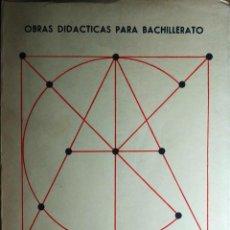 Libros de segunda mano de Ciencias: OBRAS DIDÁCTICAS PARA BACHILLERATO : 6º CURSO, PLAN 1957 / P. PUIG ADAM. MADRID, 1972.. Lote 244842150