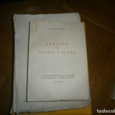 Libros de segunda mano: LEXICÓN FAUNA Y FLORA AUGUSTO MALARET 1970 ACADEMIAS LENGUA ESPAÑOLA 22X16 CM. INTONSO 569 PG.. Lote 245252970