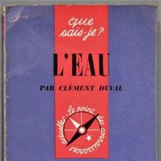 Libros de segunda mano: L'EAU. DUVAL. Lote 246331240