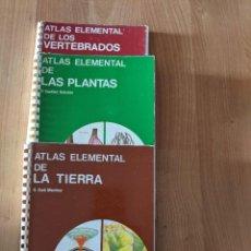 Libros de segunda mano: LOTE 3 LIBROS «ATLAS ELEMENTAL...» EDICIONES JOVER. Lote 247283010