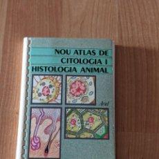 Libros de segunda mano: LIBRO «NOU ATLAS DE CITOLOGIA I HISTOLOGIA ANIMAL» Mª ASSUMPCIÓ CAÑADAS ED.ARIEL. Lote 247283810