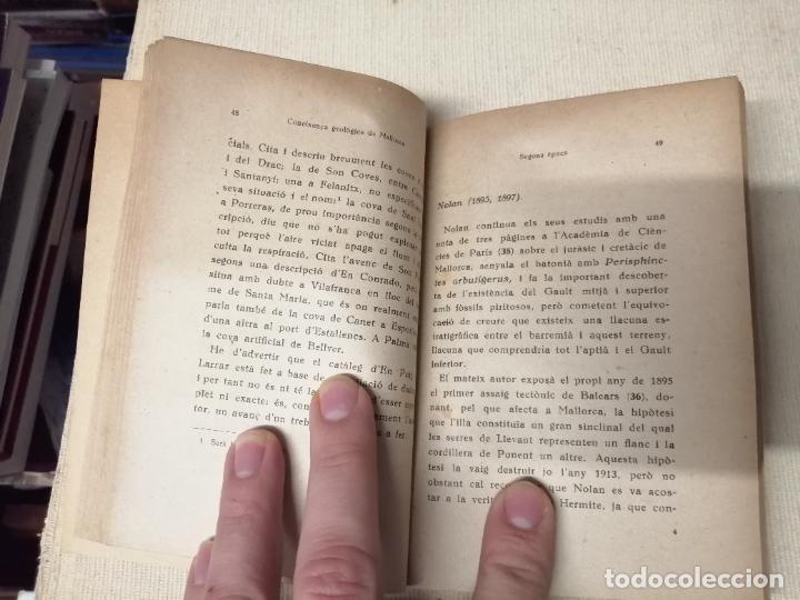 Libros de segunda mano: HISTÒRIA DE LA CONEIXENÇA GEOLÒGICA DE LILLA DE MALLORCA . BARTOMEU DARDER . MOLL . 1946 - Foto 4 - 247443620