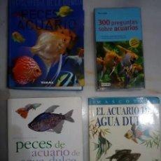 Libros de segunda mano: LOTE DE LIBROS SOBRE ACUARIOFILIA. Lote 249567980