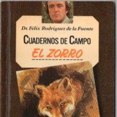 Livros em segunda mão: CUADERNOS DE CAMPO FÉLIX RODRÍGUEZ DE LA FUENTE N° 11, EL ZORRO. Lote 251953330
