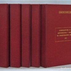 Libros de segunda mano: INTRODUCCION A LA INVESTIGACION DE LA METOLOGIA MINERA. AZCARATE. 6 TOMOS. RARO. Lote 252229325