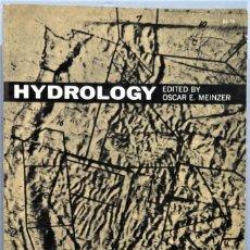 Libros de segunda mano: HYDROLOGY. MEINZER. Lote 294973753