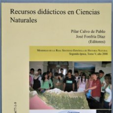 Livros em segunda mão: RECURSOS DIDACTICOS EN CIENCIAS NATURALES. VV.AA. Lote 252820070