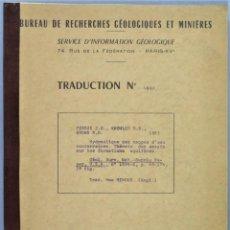 Livros em segunda mão: HYDRAULIQUE DES NAPPES D'EAU SOUTERRAINES. THEORIE DES ESSAIS SUR LES FORMATIONS AQUIFERES. Lote 252825865