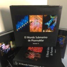 Libros de segunda mano: EL MUNDO SUBMARINO DE PHARMAMAR. VOLS. 8-15. CNIDARIOS, MOLUSCOS, TUNICADOS, ESPONJAS, EQUINODERMOS.. Lote 254121200