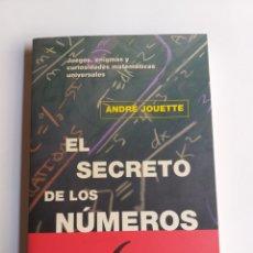 Livros em segunda mão: EL SECRETO DE LOS NÚMEROS. JUEGOS ENIGMAS Y CURIOSIDADES MATEMÁTICAS UNIVERSALES JOUETTE MATENUMEROS. Lote 254325260
