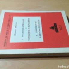 Libros de segunda mano de Ciencias: NOCIONES GENERALES TOPOGRAFIA Y PLANIMETRIA I, II EJERCICIOS PRACTICOS / ADAMS / / CONS-114. Lote 254580500