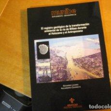 Libros de segunda mano: REGISTRO GEOLOGICO DE LA RIA DE BILBAO DURANTE EL HOLOCENO MUNIBE. Lote 254952680