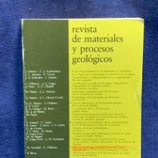 Libros de segunda mano: REVISTA DE MATERIALES Y PROCESOS GEOLOGICOS 1 1983 24X17X2CMS. Lote 255543145