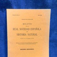 Libros de segunda mano: BOLETIN DE LA REAL SOCIEDAD ESPAÑOLA DE HISTORIA NATURAL TOMO 66 NUMERO 3 AÑO 1968 24X16X1CMS. Lote 255543510