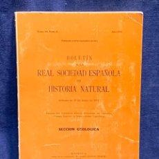 Libros de segunda mano: BOLETIN DE LA REAL SOCIEDAD ESPAÑOLA DE HISTORIA NATURAL TOMO 69 NUMERO 2 AÑO 1971 24,5X17X1CMS. Lote 255543675