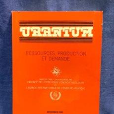 Libros de segunda mano: LIBRO GEOLOGIA FRANCES URANIUM RESSOURCES PRODUCTION DEMANDE URANIO 27X20X2CMS. Lote 255545460