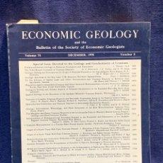 Libros de segunda mano: ECONOMIC GEOLOGY REVISTA GEOLOGIA VOL 73 NUM 8 1978 27X20X2CMS. Lote 255545695