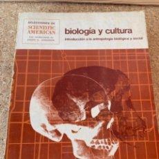 Libros de segunda mano: BIOLOGÍA Y CULTURA, INTRODUCCIÓN A LA ANTROPOLOGÍA BIOLÓGICA Y SOCIAL (BOLS 5). Lote 255552470