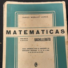 Libros de segunda mano de Ciencias: MATEMATICAS BACHILLERATO PRIMER CURSO 1958. Lote 256110205