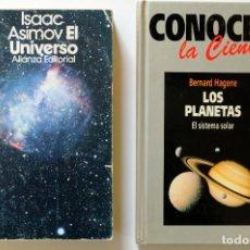 Libros de segunda mano de Ciencias: EL UNIVERSO-ASIMOV+CONOCER LA CIENCIA.LOS PLANETAS. Lote 257342020