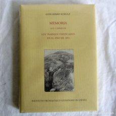 Libros de segunda mano: MEMORIA QUE COMPRENDE LOS TRABAJOS VERIFICADOS EN EL AÑO 1855, GUILLERMO SCHULZ FACSIMIL PRECINTADO. Lote 257710945