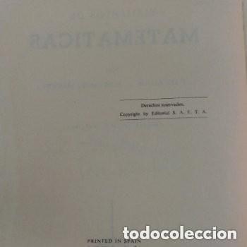 Libros de segunda mano de Ciencias: 964 ELEMENTOS DE MATEMATICAS J.REY PASTOR/A. DE CASTRO BREZEZICKI 3° EDICION AMPLIADA - Foto 2 - 257732285