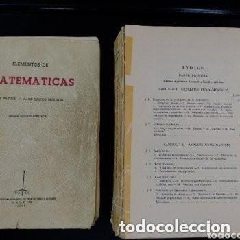 Libros de segunda mano de Ciencias: 964 ELEMENTOS DE MATEMATICAS J.REY PASTOR/A. DE CASTRO BREZEZICKI 3° EDICION AMPLIADA - Foto 6 - 257732285