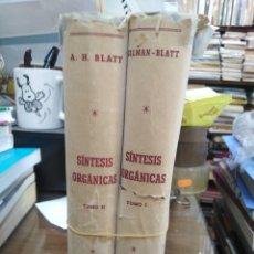 Livros em segunda mão: SÍNTESIS ORGANICAS-2 TOMOS-GILMAN BLATT-EDITA GUSTAVO GILI 1950. Lote 257788290