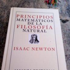 Libros de segunda mano de Ciencias: PRINCIPIOS MATEMÁTICOS DE LA FILOSOFÍA NATURAL. ISAAC NEWTON. Lote 257845135