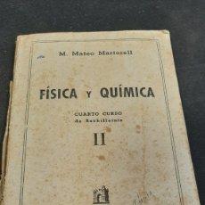 Libros de segunda mano de Ciencias: CURSO DE MATEMÁTICA CUARTO BACHILLERATO. Lote 258842620