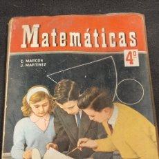 Libros de segunda mano de Ciencias: MATEMÁTICAS 4º C MARCOS J MARTÍNEZ. Lote 258872560