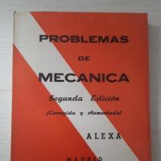 Livros em segunda mão: PROBLEMAS DE MECÁNICA ALEXA. Lote 260015390