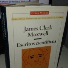 Libri di seconda mano: ESCRITOS CIENTÍFICOS - MAXWELL, JAMES CLERK. Lote 261128660