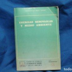 Libros de segunda mano de Ciencias: ENERGÍAS RENOVABLES Y MEDIO AMBIENTE - SERIE MONOGRAFÍAS 16 - CEOTMA 1982. Lote 261276435