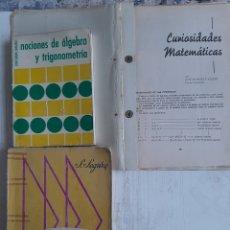 Libros de segunda mano de Ciencias: TRES LIBROS DE MATEMÁTICAS. Lote 261852255
