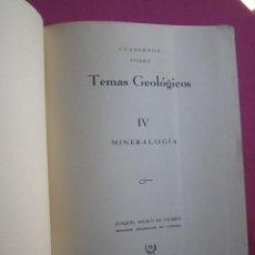 Libros de segunda mano: CUADERNOS SOBRE TEMAS GEOLOGICOS DE INGENIEROS DE MINAS OVIEDO. Lote 261970405