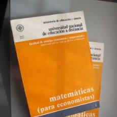 Libros de segunda mano de Ciencias: MATEMÁTICAS ( PARA ECONOMISTAS ). 2 VOLS.- ANGEL ALCAIDE ICHAUSTI.- U.N.E.D. 1983. Lote 261973630