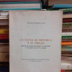 Libros de segunda mano: LA FAUNA DE MENORCA Y SU ORIGEN. Lote 262139430