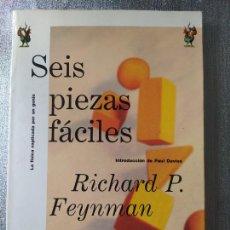 Libros de segunda mano de Ciencias: FÍSICA. SEIS PIEZAS FÁCILES, RICHARD FEYNMAN, COLECCIÓN DRAKONTOS, DE CRITICA. 1998, RARO. Lote 262192465
