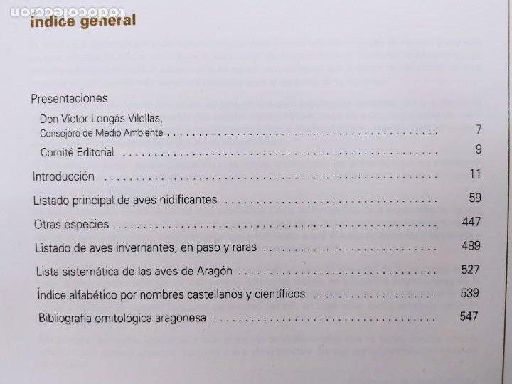 Libros de segunda mano: AVES DE ARAGÓN. ATLAS DE ESPECIES NIDIFICANTES / 2ªed. 2000. DIPUTACIÓN GENERAL DE ARAGÓN - Foto 2 - 262261640