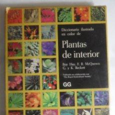 Libros de segunda mano: PLANTAS DE INTERIOR, DICCIONARIO ILUSTRADO EN COLOR - GUSTAVO GILI - 1986. Lote 262605690
