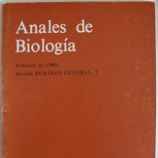 Libros de segunda mano: 1986. ANALES DE BIOLOGÍA. VOL. 10 - SECCIÓN BIOLOGÍA GENERAL, 2 - UNIVERSIDAD DE MURCIA. Lote 262644340